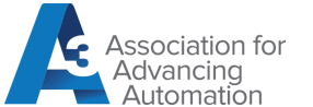 The words Association for Advancing Automation in gray with a large blue A next to it