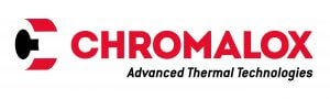 The word Chromalox in red with the words Advanced Thermal Technologies underneath it in black
