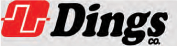 The word Dings in black with a red and white square to the left of the word