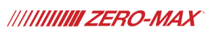 The words Zero-Max in uppercase red lettering with 13 red slanted lines to the left of the words